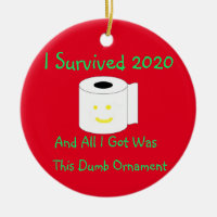 I Survived 2020 And All I got was this dumb Ceramic Ornament
