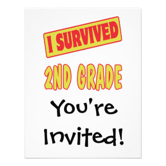 I SURVIVED 2ND GRADE PERSONALIZED ANNOUNCEMENT
