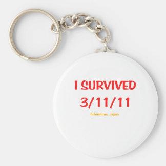 I Survived 3/11/11 (March 11, 2011) Basic Round Button Keychain