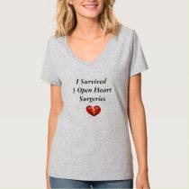 I Survived 3 Open Heart Surgeries T-Shirt