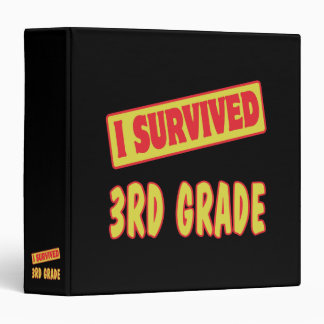 I SURVIVED 3RD GRADE 3 RING BINDER