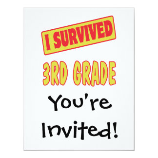 I SURVIVED 3RD GRADE 4.25X5.5 PAPER INVITATION CARD