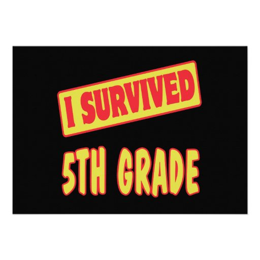 I SURVIVED 5TH GRADE ANNOUNCEMENTS