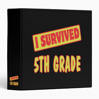 I SURVIVED 5TH GRADE BINDER
