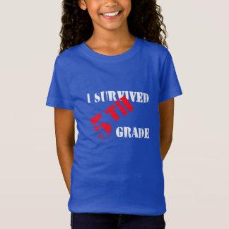 I Survived 5th Grade Girl's Dark Tee
