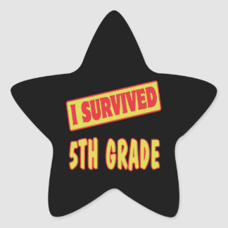 I SURVIVED 5TH GRADE STICKERS