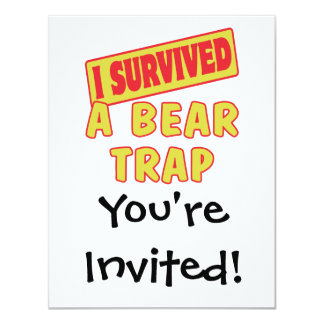 I SURVIVED A BEAR TRAP CARD