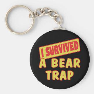 I SURVIVED A BEAR TRAP KEYCHAIN