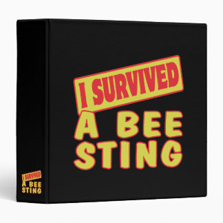 I SURVIVED A BEE STING BINDER