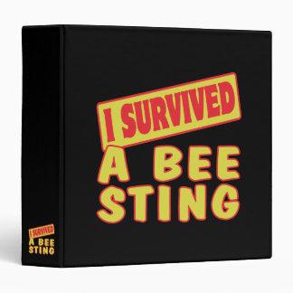 I SURVIVED A BEE STING VINYL BINDER
