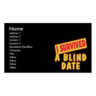 I SURVIVED A BLIND DATE BUSINESS CARD
