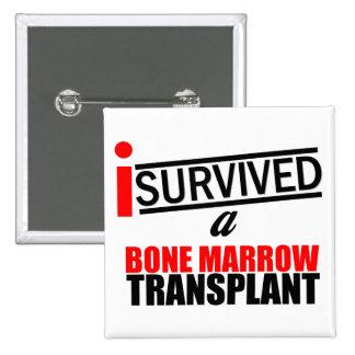 I Survived a Bone Marrow Transplant Pinback Buttons