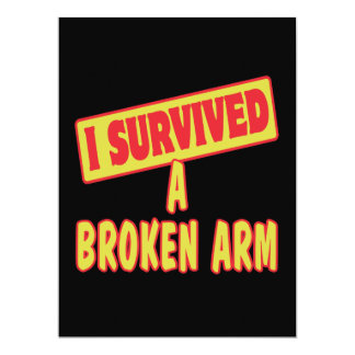 I SURVIVED A BROKEN ARM PERSONALIZED INVITATIONS