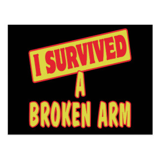 I SURVIVED A BROKEN ARM POSTCARD