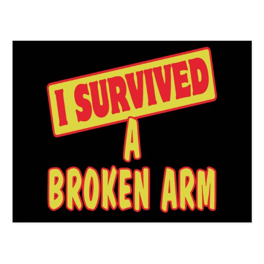 I SURVIVED A BROKEN ARM POSTCARD