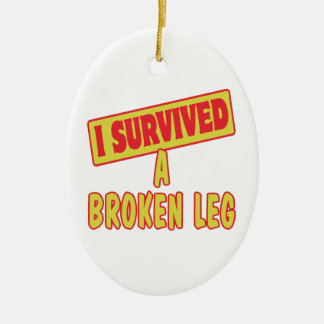 I SURVIVED A BROKEN LEG CHRISTMAS ORNAMENTS