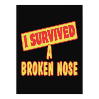 I SURVIVED A BROKEN NOSE CUSTOM INVITES