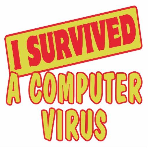 I SURVIVED A COMPUTER VIRUS PHOTO SCULPTURE KEYCHAIN