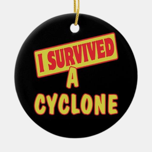I SURVIVED A CYCLONE CERAMIC ORNAMENT