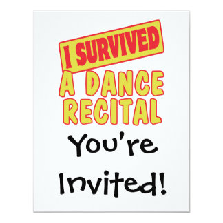 I SURVIVED A DANCE RECITAL CARD