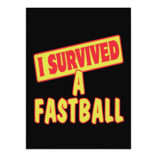 I SURVIVED A FASTBALL INVITATIONS