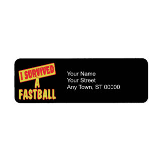 I SURVIVED A FASTBALL LABEL