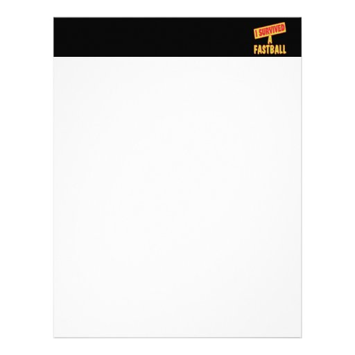 I SURVIVED A FASTBALL LETTERHEAD TEMPLATE