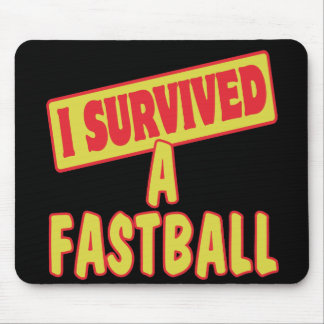 I SURVIVED A FASTBALL MOUSE PADS