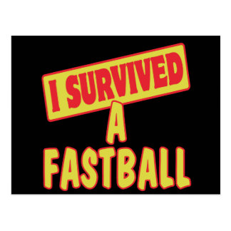I SURVIVED A FASTBALL POSTCARD