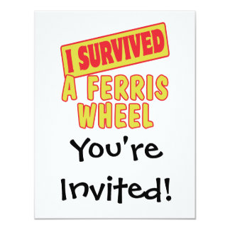 I SURVIVED A FERRIS WHEEL 4.25X5.5 PAPER INVITATION CARD