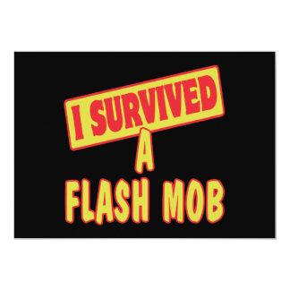 I SURVIVED A FLASH MOB 5X7 PAPER INVITATION CARD