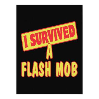 I SURVIVED A FLASH MOB 6.5X8.75 PAPER INVITATION CARD