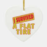I SURVIVED A FLAT TIRE ORNAMENT