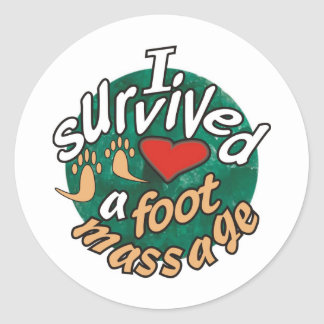 I survived a foot massage stickers