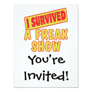 I SURVIVED A FREAK SHOW CARD