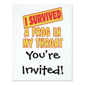 I SURVIVED A FROG IN MY THROAT CARD