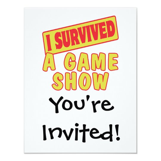I SURVIVED A GAME SHOW CARD