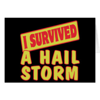 I SURVIVED A HAIL STORM CARD