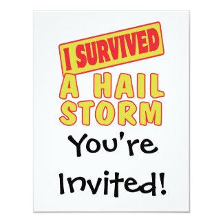 I SURVIVED A HAIL STORM INVITATION
