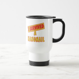 I SURVIVED A HANGNAIL 15 OZ STAINLESS STEEL TRAVEL MUG