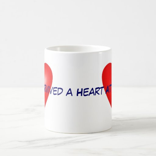 I survived a Heart Attack 11 Oz Magic Heat Color-Changing Coffee Mug