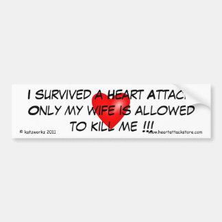 I survived a Heart Attack Car Bumper Sticker