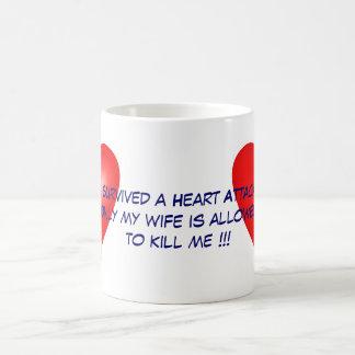 I survived a Heart Attack Classic White Coffee Mug