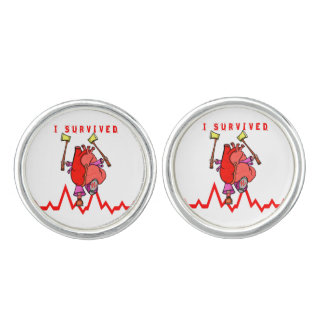 I survived a heart attack cufflinks