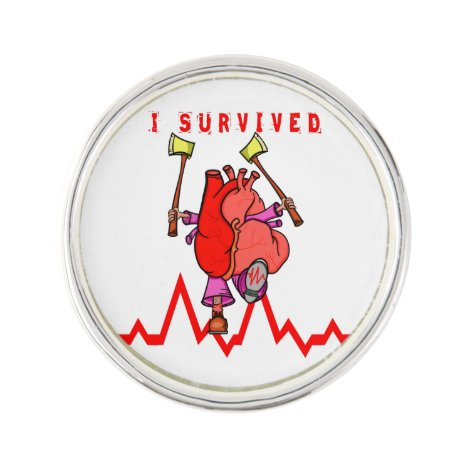 I survived a heart attack pin