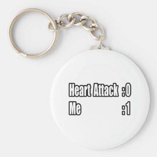 I Survived a Heart Attack (Scoreboard) Basic Round Button Keychain