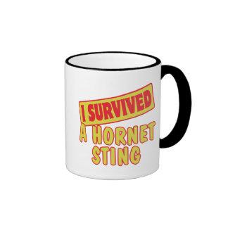 I SURVIVED A HORNET STING COFFEE MUGS