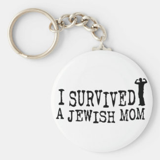 I Survived a Jewish mom - Jew humor Basic Round Button Keychain