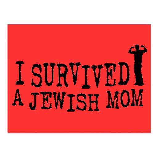 I Survived a Jewish mom - Jew humor Post Card