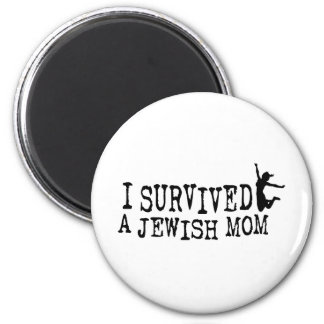 I survived a Jewish mom - the daughter version 2 Inch Round Magnet